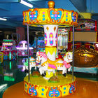 3 Seats Carousel Coin Operated Kiddie Ride / Carousel Horse Ride On Toy