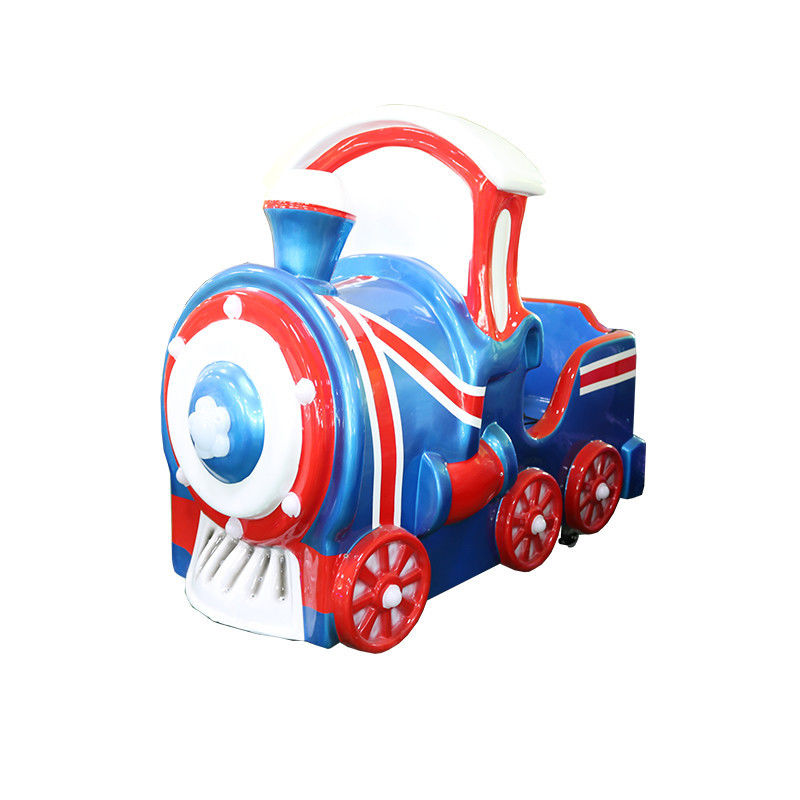 1 Player Kids Coin Operated Kiddie Ride / Little Train Rides For Supermarket